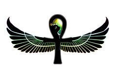 Egyptian design tattoos | Ankh Bastet Egyptian Bicep Tattoo Design