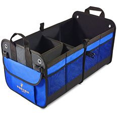 Car Boot Tidy Trunk Storage Caddy Organiser Foldable Canvas Insulated Cool Bag Travel Box Space Saver
