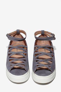 Jeffrey Campbell Aisha Suede Lattice Shoe