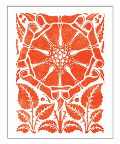 Red Dutch Flower  Vintage Woodblock with a by KitschyKitschyCool, $15.00- love this