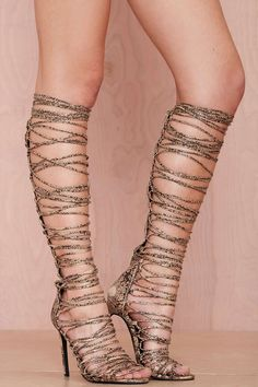 Jeffrey Campbell Advent Lace-Up Leather Heel   Shop Shoes at Nasty Gal