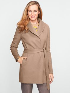 Talbots - Double-Faced Wool Car Coat | New Arrivals | Misses