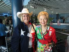 Dianne and Phyllis at Treasure Life event -- Dianne and the rest of the TX delegation were dressed like true Texans for the Tuesday Convention session!