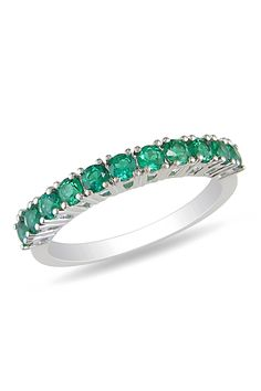 Emerald Ring In Silver.