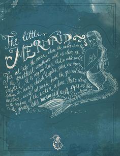The Little Mermaid Art Print - Biljana Kroll