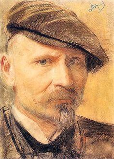 Leon Wyczółkowski, Self-portrait in flat cup, photo: CC / Wikimedia