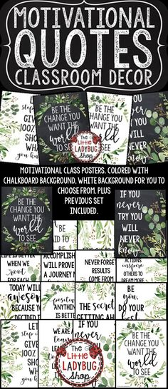 Farmhouse Decor Motivational Posters Farmhouse Class Decor Growth Mindset Poster You will love using these Inspirational Posters & Motivational Quote Posters! These can be so inspiring to students! 5th Grade Classroom, High School Classroom, Classroom Design, Future Classroom, Classroom Themes, Classroom Organization, Kindergarten Classroom, Back To School Bulletin Boards, Classroom Bulletin Boards