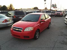 View Photos & Details of a 2008 USED CHEVROLET AVEO 4dr Sedan LS located in Tulsa, OK at Best Choice Motors | $5,995 | Victory Red