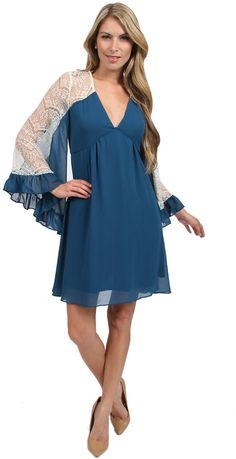 92798b96cd0 Voom by Joy Han Viviana Bell Sleeve Dress in Teal