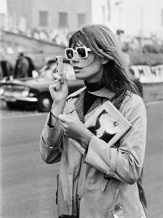 "62a00f365 24femmespersecond: "" Françoise Hardy in sunglasses Françoise Hardy (born  1944): French ye"