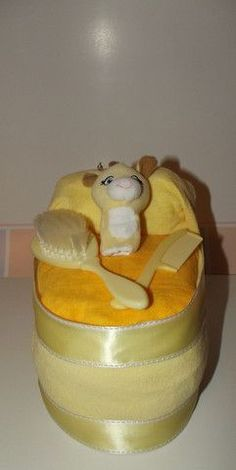 Diaper Bassinet-yellow/neutral Diaper Bassinet, Baby Shower Centerpieces, Neutral, Yellow, Cake, Desserts, Food, Modern, Tailgate Desserts