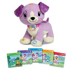 LeapFrog Read With Me Violet Read With Me Violet is a playful toy pup that reads and asks questions. Its an interactive get ready-to-read toy thats doggone fun. Violet reads from the five included board books, and engages childre http://www.MightGet.com/may-2017-1/leapfrog-read-with-me-violet.asp