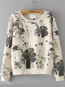Sweat-shirt court fleuri -blanc Vêtements Tendance, Des Vêtements, Vêtements  Femmes, cf9ffad17215