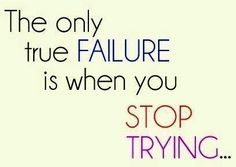 Failure quote via Carol's Country Sunshine on Facebook