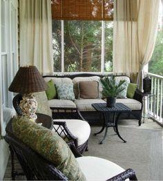 Gordijnen ophangen op het balkon   Kamer   Pinterest - Hogar ...