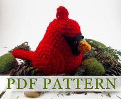 Red Cardinal PDF Crochet Pattern by TheCrookedSpruce on Etsy