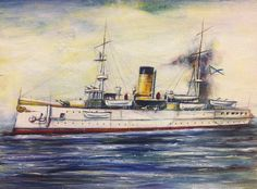 """Imperial Russian Navy armoured cruiser """"Admiral Nakhimov"""""""