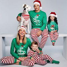Family Matching Christmas Pajamas Set Women Baby Kids Elf Sleepwear  Nightwear  fashion  clothing   b4d7f3b4b