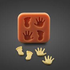 Silikonform Baby Füße und Hände