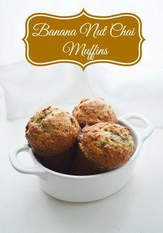Banana Nut Chai Muffins #recipe #breakfast