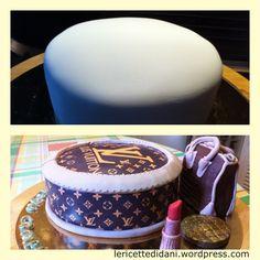 Torta al cioccolato #LouisVuitton #cakedesign