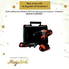 Black & Decker Outil multifonction Multievo 18 V avec tête perceuse/visseuse + 2 batteries http://www.maginea.com/fiche/P201502190030.html
