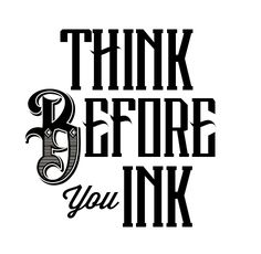 think before you ink logo