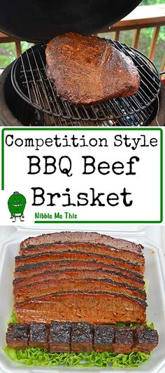 Competition style BBQ Beef Brisket cooked on a Big Green Egg kamado grill using the techniques we use in our BBQ competitions. Bbq Beef Brisket Recipe, Grilled Brisket, Bbq Brisket, Brisket On The Grill, Smoked Brisket Recipes, Barbecue Recipes, Grilling Recipes, Big Green Egg Brisket, Green Egg Grill
