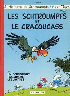 Couverture de Les schtroumpfs -5- Les Schtroumpfs et le Cracoucass