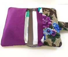 Excited to share the latest addition to my #etsy shop: Diaper clutch, diaper bag, diaper wallet, nappy wallet, changing bag organizer, new mom gift, new baby gift, baby shower gift, purple bag http://etsy.me/2CvsLvX