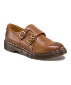 Loving this Brown Jules Leather Monk Strap Shoe on #zulily! #zulilyfinds
