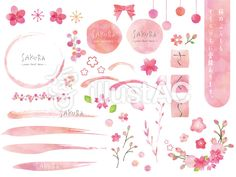 Cherry Blossom, Free Images, Pattern Design, Vector Free, Clip Art, Illustration, Inspiration, Ideas, Art
