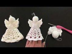 Crochet Angel Pattern, Crochet Angels, Crochet Patterns, Crochet Hats, Crafts To Do, Yarn Crafts, Christmas Angels, Christmas Ornaments, Handmade Angels