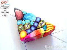 Ronit Golan - Polymer Clay Joy - Inspire to Create: DIY Tutorial - Kaleidoscope cane from Canes Scraps Polymer Clay Animals, Polymer Clay Canes, Polymer Clay Projects, Polymer Clay Creations, Diy Clay, Polymer Clay Jewelry, Clay Crafts, Diy Kaleidoscope, Biscuit