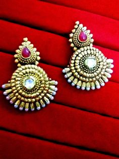 Brand New Bollywood Daphne Polki Earrings with Pearl for Women – Buy Indian Fashion Jewellery Indian Fashion, Women's Earrings, Birthday Gifts, Bollywood, Fashion Jewellery, Brooch, Brand New, Pearls, Send Gifts