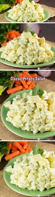 Classic Potato Salad made with or without egg. The key ingredient to this potato salad is the Hellmann's mayo with just a little bit of mustard mixed in. Perfect for potlucks and picnics, this is the Potato Salad recipe you'll be asked to make over and over!