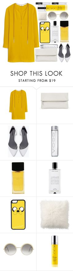 """""""Mango Textured dress"""" by itaylorswift13 ❤ liked on Polyvore featuring MANGO, Whistles, Zara, Donna Karan, Agonist, CellPowerCases, Pottery Barn, Cutler and Gross, Rodial and NARS Cosmetics"""