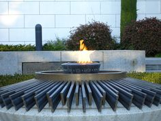 Eternal Olympic Flame, Olympic Headquarters, Lausanne, Switzerland.