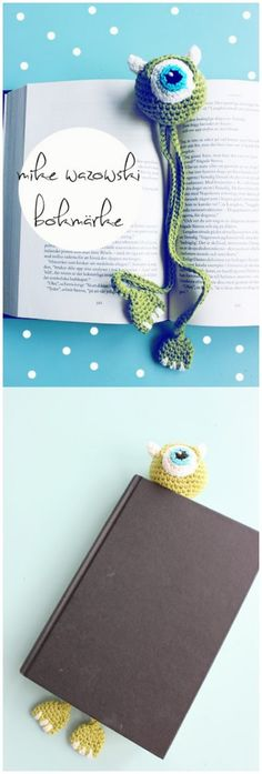 Crochet Amigurumi Rabbit Patterns Monster Bookmark FREE Crochet Pattern - Every crocheter has a go-to gift pattern. This collection of pretty crochet bookmark patterns can probably help you for next rush of holiday gifts. Marque-pages Au Crochet, Crochet Mignon, Crochet Gratis, Crochet Amigurumi, Crochet Books, Cute Crochet, Crochet For Kids, Crotchet, Crochet Rabbit