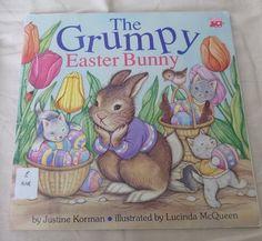 Vintage Easter Bunny Story Book The Grumpy by PopcornVintageByTann