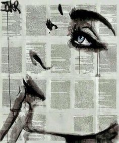 """Original drawing """"Never Know"""" by Loui Jover (Australia) available at Saatchi Art."""