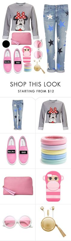 """""""Untitled #134"""" by nefedovalera ❤ liked on Polyvore featuring STELLA McCARTNEY, Miss Selfridge, Joshua's, L. Erickson, Aspinal of London, Kate Spade, ZeroUV, The Macbeth Collection and Wall Pops!"""