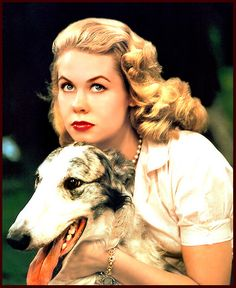 Elizabeth Montgomery : ✨COVER DOGS & COVER GIRLS✨The Doggie Looks Like A Borzoi,..:) ~ Don't Know For Sure,..