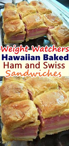 These hot ham and cheese sliders are super easy to make – all you need to do is layer some dinner rolls with ham, cheddar or swiss cheese, and top them with a grainy mustard The post Hawaiian Baked Ham and Swiss Sandwiches appeared first on Woman Casual. Skinny Recipes, Ww Recipes, Cooking Recipes, Healthy Recipes, Recipies, Dinner Recipes, Snacks Recipes, Waffle Recipes, Candy Recipes