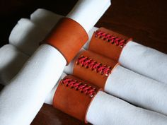 Handcrafted Leather Napkin Rings by GalvinLeatherworks on Etsy, $30.00 #modernthanksgiving