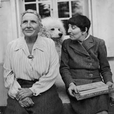 Gertrude Stein, Alice Babette Toklas & Basket the Standard Poodle