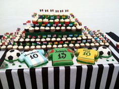 World Cup Soccer birthday - great idea! Have all the flags of ALL the countries who participated in the World Cup.