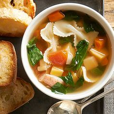 Root vegetables simmer in the slow cooker, giving way to a healthy vegetable soup for dinner tonight.