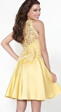 $139.89-Beautiful Short Sleeveless High Neck Satin Short Lace Prom Dress. http://www.ucenterdress.com/a-line-short-sleeveless-lace-high-neck-satin-prom-dress-pMK_303453.html.  Free Shipping & Free Custom Made! Buy cheap prom dresses, party dresses, night dresses, maxi dresses, little black dresses, junior prom dresses, girls prom dresses, designer prom dresses for sale. We have great 2016 prom dresses on sale at #UcenterDress.com today!