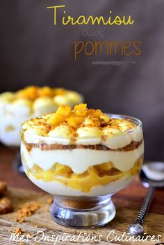 Tiramisu pommes caramélisées et speculoos - Delicious Foods No Cook Desserts, Easy Desserts, Delicious Desserts, Yummy Food, Sweet Recipes, Cake Recipes, Dessert Recipes, Receita Trifle, Caramelised Apples